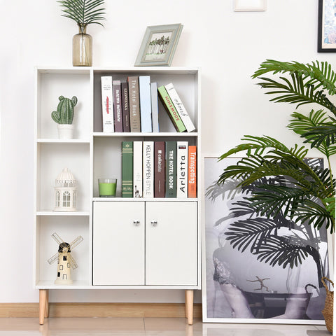 Free Standing Wooden Bookcase Cabinet