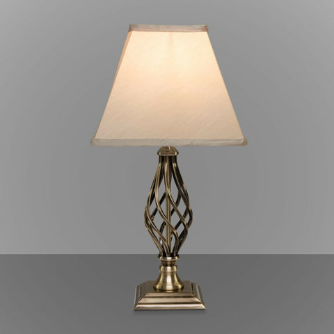Barley Twist Square Base Traditional Lamp