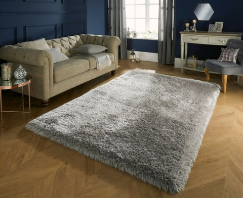 CHUNKY THICK LONG SHAGGY PEARL RUG