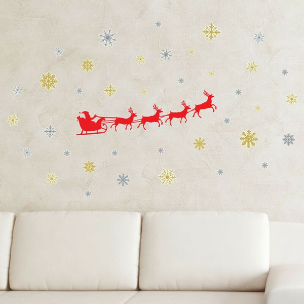 Santa Sleigh Wall Sticker