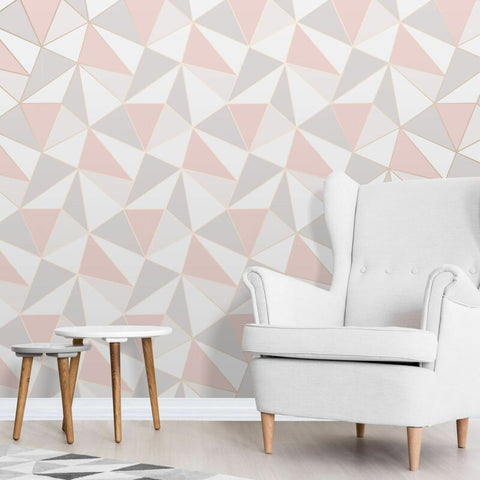 ROSE GOLD / PINK APEX GEOMETRIC WALLPAPER