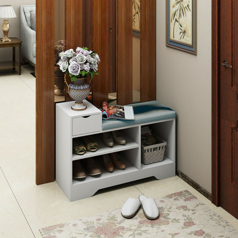 Hallway Storage Bench with Drawer and Seat
