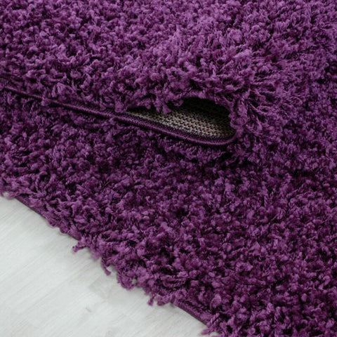 Thick Purple Large Shaggy Rug Carpet