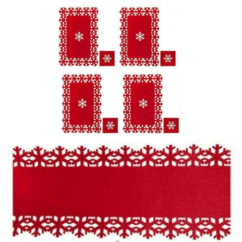 RED CHRISTMAS TABLE MAT