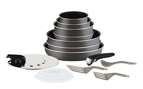 15 Pieces Grey Non-stick Cookware Set