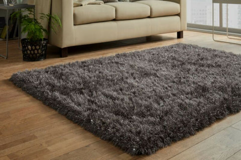 Luxury Dark Grey Large Rug