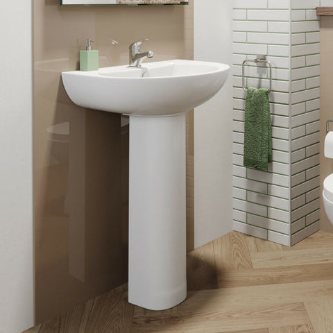 Single Pedestal Bathroom Tap