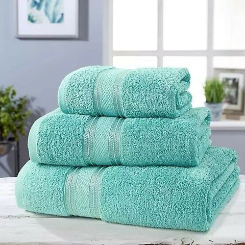 Luxury Soft Cotton Towel Set Duck Egg