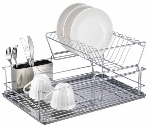 Stainless Steel Collapsible Plate Organizer