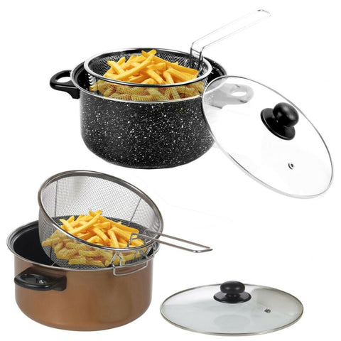 Non Stick Chip Pan Fryer With Basket