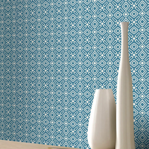 Luxury Retro 3D Geometric Wallpaper