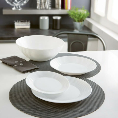 White Opal Glass Dinner Set Dinnerware