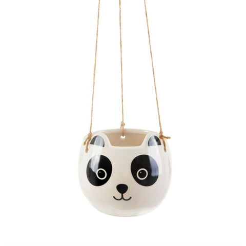 Panda Ceramic Hanging Planter