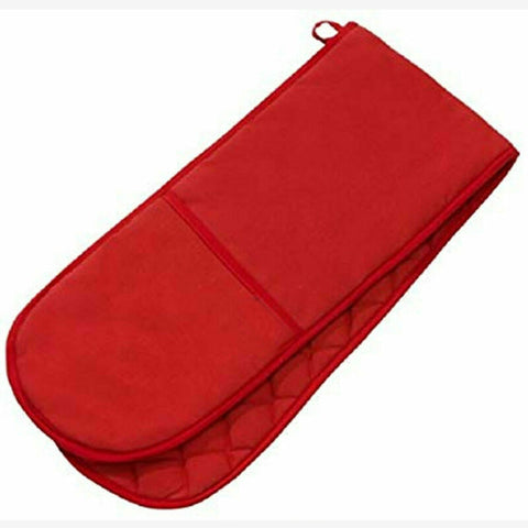 Plain Red Double Oven Glove