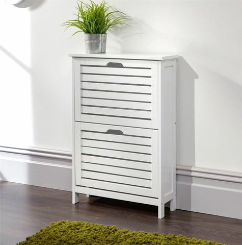 TWO TIER SHOE CABINET STORAGE UNIT