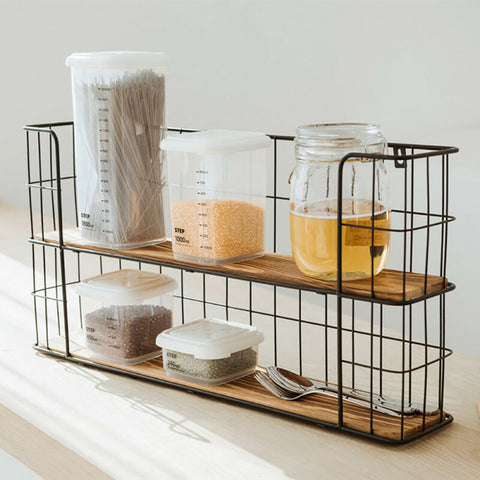 Metal Wire Kitchen Wall Storage Shelf Unit