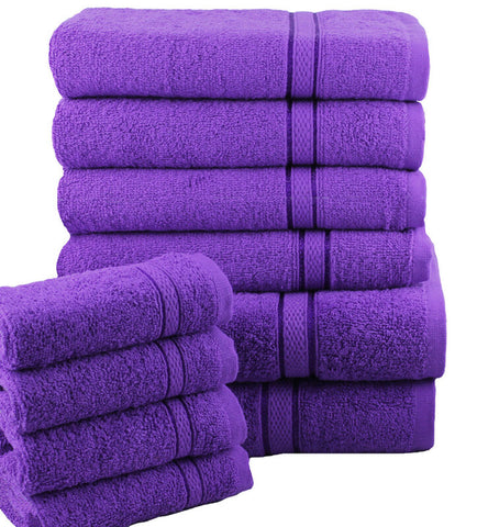 PURPLE LUXURY 10 PIECE TOWEL BALE