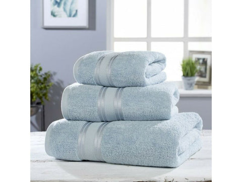 Luxury Blue Soft Cotton Towel Set