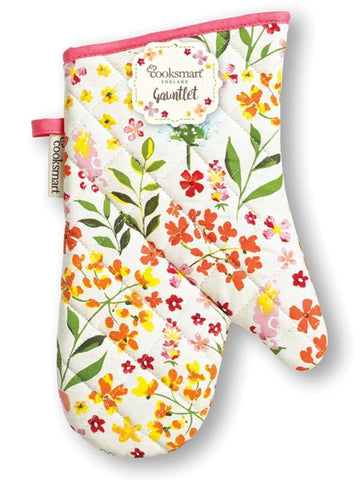 FLORAL KITCHEN COOKING OVEN GLOVE