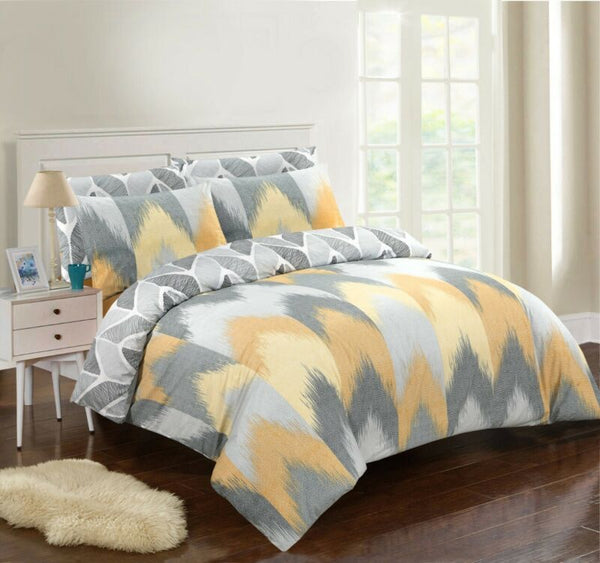 100% COTTON BLUR WAVES DUVET