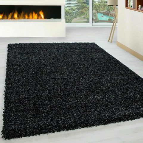 Anthracite Non Slip Shaggy and Fluffy Rug