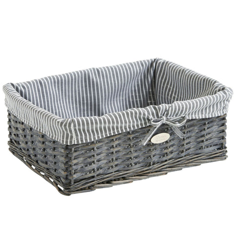 Grey Wicker Seagrass Storage Baskets