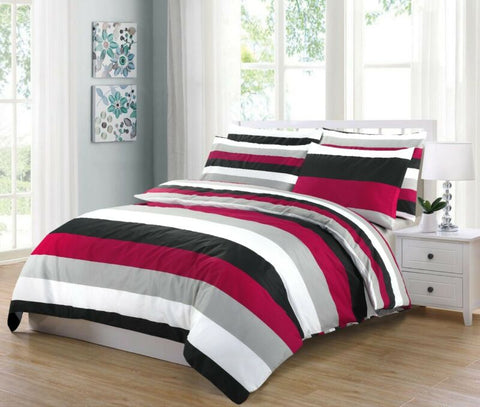 STRIPE RED DUVET SET