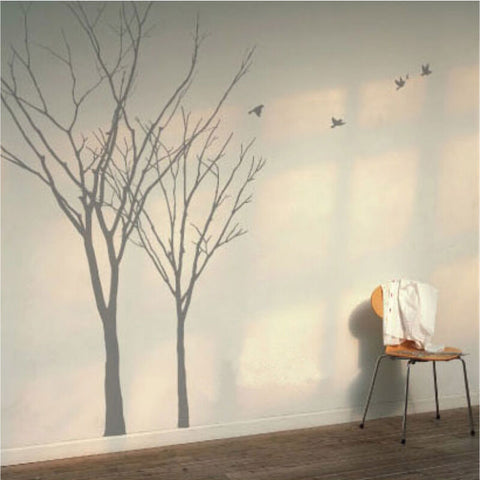 Winter Autumn Tree Wall Art Stickers