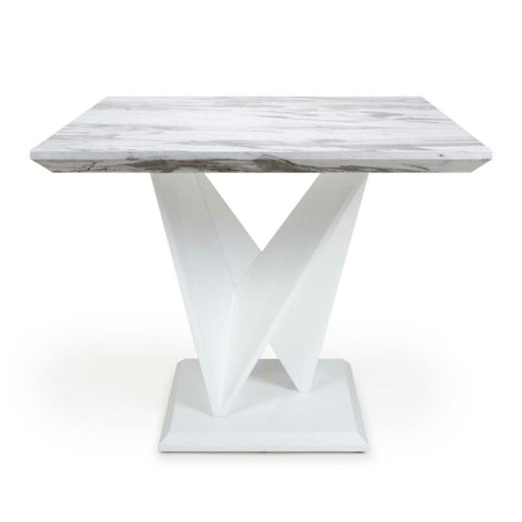 Grey & White Gloss Marble Dining Tables