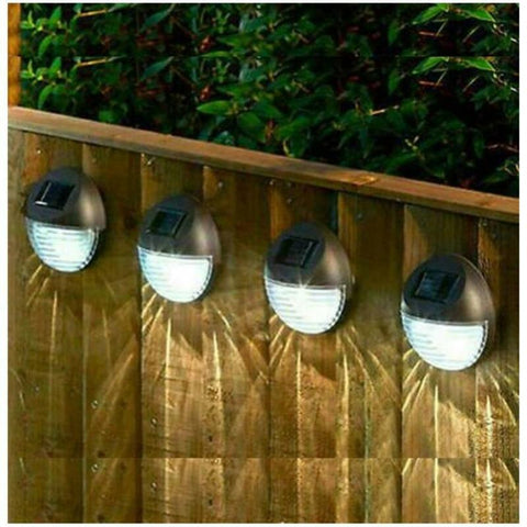 SOLAR POWER GARDEN FENCE LIGHTS