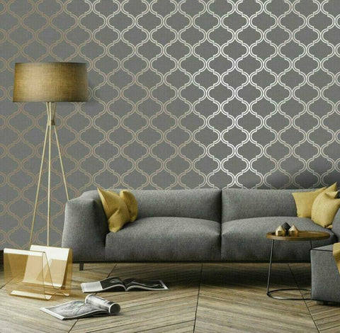 Holden Glistening Geometric Wallpaper