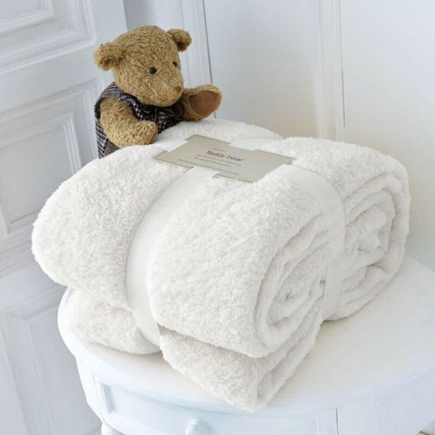 Teddy fleece Sofa Throw