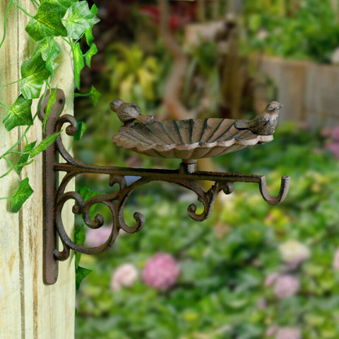 Iron Bird Bath & Feeder