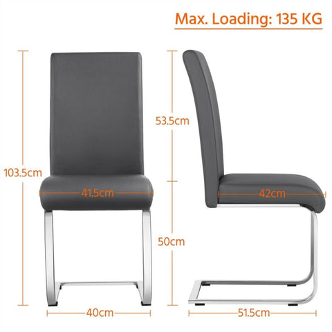 2pcs Faux Leather Padded Seat