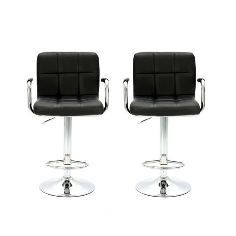 2 x Bar stools Adjustable Barstool with Arm