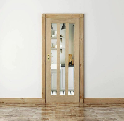 Clear Glass Internal Oak Door