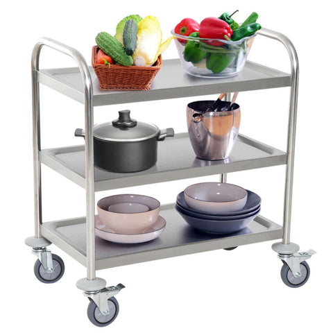 3-tier Stainless Steel Kitchen Trolley/Island