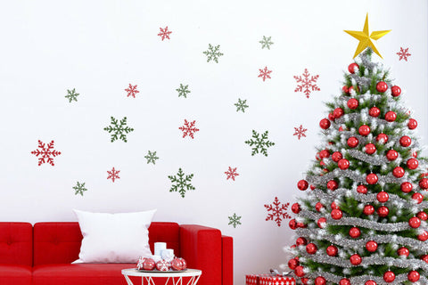Colourful Christmas Snowflakes Stickers