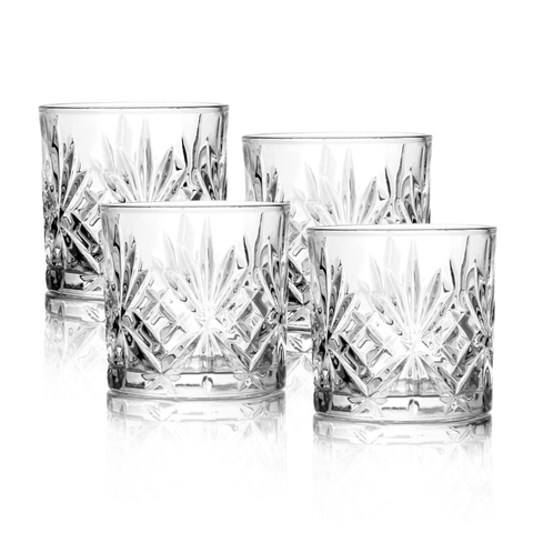 Set of 4 Whiskey Glass Tumbler