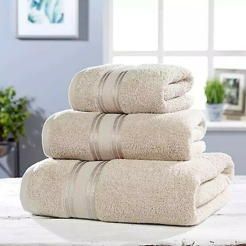 Stone Colour Luxury Soft Cotton Towel Set