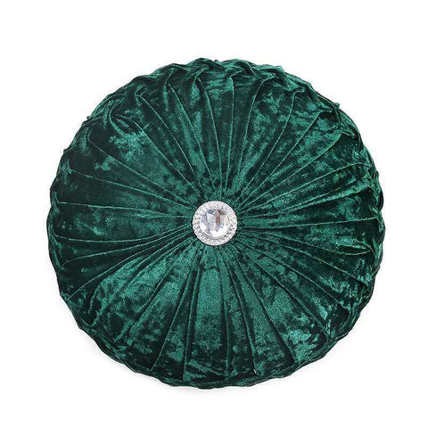 New Round Crushed Velvet Cushion