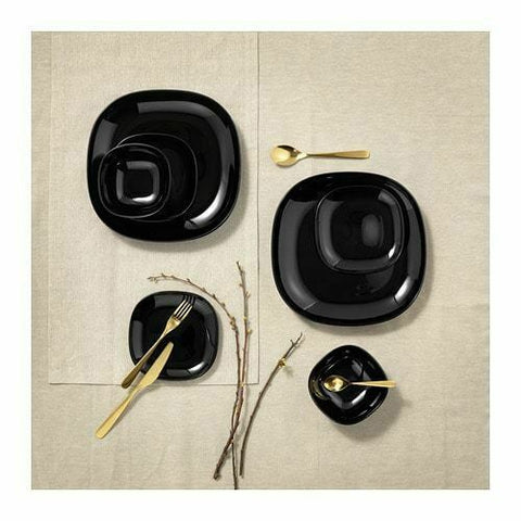 Black Square Dinnerware Set