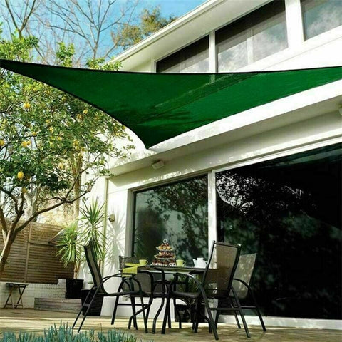 Dark Green Triangle Patio Sail Shade