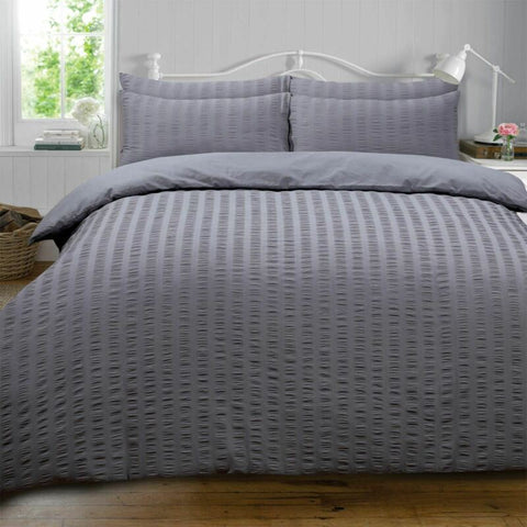 Charcoal Dark Grey Duvet Cover with Pillowcase