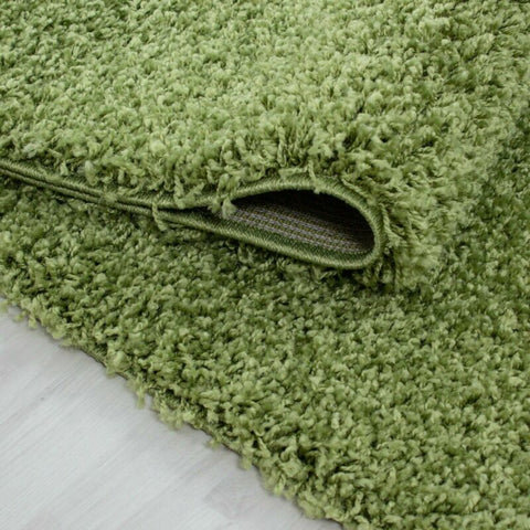 Green Shaggy Bedroom/Living Room Rug