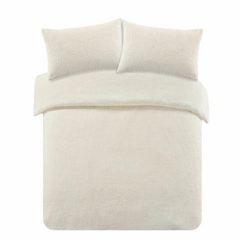 Cream Ivory Brentfords Duvet Cover with Pillow Case