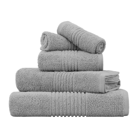 LUXURY SILVER EGYPTIAN COTTON TOWEL SET