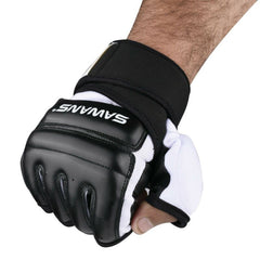 Leather MMA Boxing Gel Gloves