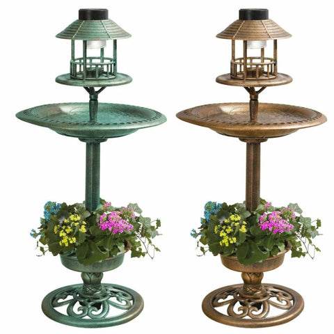 SOLAR GARDEN BIRD FEEDER/BATH