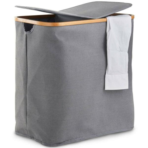 Two Compartment Grey Laundry Bin